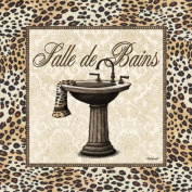 Leopard Sink Cool Bath Classy Retro Sign Modern Bathroom French Amazing Bedroom Poster 12X12