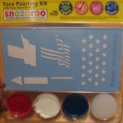 Snazaroo 4th of July Flag Face Paint Kit with Stencils