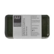 R & F Encaustic 40ml Paint, Green Earth