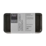 R & F Encaustic 40ml Paint, Turkey Umber Greenish