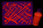 240ml Orange Blacklight Reactive Fluorescent Tempera Paint