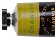 Charvin Extra-Fine Artists' Acrylic Paints 60 ml Paint Tube - Green Gold
