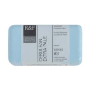 R & F Encaustic 40ml Paint, Cerulean Extra Pale