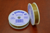 Satin Gold .015 Acculon 49 Strands Beading Wire 100 Feet 1 Pc