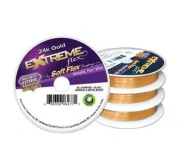 Soft Flex Extreme 24K Gold Plated Beading Wire .014/30 Feet
