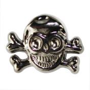 Kobwa(TM) 1 Bag(20pcs) Gun Black Alloy Metal Punk Style Skull Crossbones Rivets DIY Accessory For Bracelet Earrings +Free Keyring