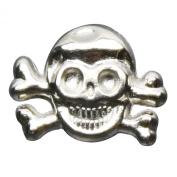 Kobwa(TM) 1 Bag(20pcs) Silver Alloy Metal Punk Style Skull Crossbones Rivets DIY Accessory For Bracelet Earrings +Free Keyring