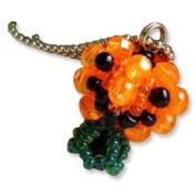 Kit, Miyuki Delica Beads & Crafts, Halloween Mascot Fan, Makes 2.5cm Charm & Chain No.46 Pumpkin