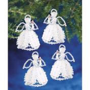 Holiday Beaded Ornament Kit-Carolling Angels