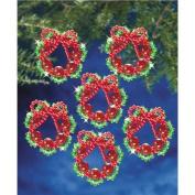 Beadery NOM046776 Holiday Beaded Ornament Kit, Cranberry Wreath