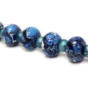 Fiona Gemstone Bead Strand, 8 by 12mm, Blue