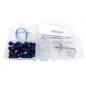 Fiona Metallic Crystal Beads Rosary DIY Kit