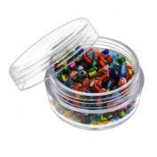 6pc Screw-Top Clear Acrylic Bead Jars Containers 20ml - 2.5cm - 1.9cm x 2.5cm