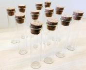 Glass Bottle Jar with Cork Stopper (6.5cm x 1.5 cm)24 Pcs
