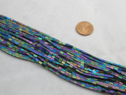Hematite Cuboid 2x4mm 15.5'' Per Strand Coating Multi- Colour 98pcs