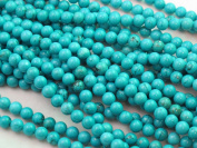 Nature Chinese Turquoise Round Blue 6mm 16'' Per Strand 66pcs