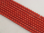 Coral Beads Bamboo Coral Dyed Red Colour 4mm Round 90pcs 16'' Per Strand
