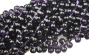 100 Deep Purple Czech Glass Teardrop Beads Tear drops 6MM
