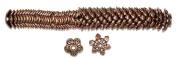 Cousin Jewellery Basics 60-Piece Copper Mixed Cap Bead