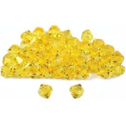 40 Citrine Bicone. Crystal Beads Part 5301 4mm