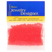 8/0 Glass Seed Beads, Red, 20 Gramme Pkg