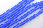 Czech Pressed Glass Bead 6 x 2mm Rondelle Spacer SAPPHIRE BLUE (50) 915182