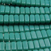 Czechmate 2mm X 6mm Brick Glass Czech Two Hole Bead - Persian Turquoise