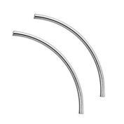 Sterling (.925) Silver (not plated!) Curved Tube Noodle Bead 40mm x 2mm