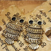 Liotus@ New Women Nice Retro Cinnamon Colour Owl Fashion Earrings