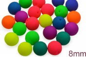 32 pcs Czech Glass Round Pressed Beads ESTRELA NEON (UV Active) MIX 8 mm