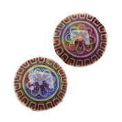 Mirage Colour Changing Mood Beads - Sun Blossom Pattern 16mm Diameter