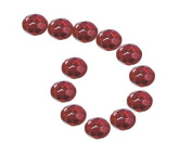 Siam Red Lustre Czech Fire Polished Glass Facet Beads 8mm