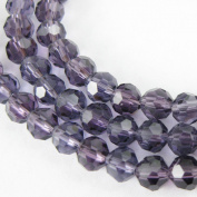 Crystal Glass Beads 4mm Round Faceted, Dark Red Violet