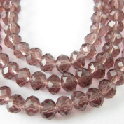 Crystal Glass Beads 4mm Round Faceted, Violet Colour
