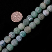 10mm round gemstone frost green agate beads strand 15""