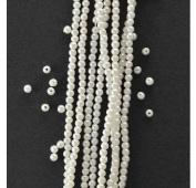 White Plastic Pearl Beads - 2.5mm, 650pcs, PRL-RND-W/H