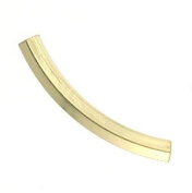 14k Yellow Gold-Filled Hexagon Curved Tubes - 3mm x 25mm