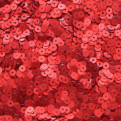 4mm FLAT SEQUINS ~ RED ~ SILK FROST MATTE ~ Loose paillette sequins for embroidery, applique, arts, crafts, bridal wear and embellishment. Made in USA