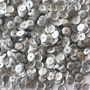 6mm CUP SEQUINS ~ MATTE Frosted SILVER ~ Loose paillette sequins for embroidery, applique, arts, crafts, bridal wear and embellishment. Made in USA