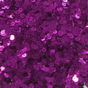 3mm Flat Round SEQUIN PAILLETTES ~ PURPLE Metallic ~ Loose sequins for embroidery, bridal, applique, arts, crafts, and embellishment. Made in USA.