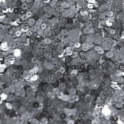 3mm Flat Round SEQUIN PAILLETTES ~ HEMATITE SHINY grey GUNMETAL metallic ~ Loose sequins for embroidery, bridal, applique, arts, crafts, and embellishment. Made in USA.