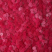 4mm FLAT ROUND SEQUINS ~ OPAQUE Hot Pink FUCHSIA ~ Loose paillette sequins for embroidery, applique, arts, crafts, and embellishment. Made in USA