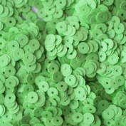 5mm Flat Round SEQUIN PAILLETTES ~ GREEN BRIGHT NEON OPAQUE ~ Loose sequins for embroidery, bridal, applique, arts, crafts, and embellishment. Made in US
