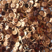 8mm Cup Facet Round SEQUIN PAILLETTES ~ COPPER METALLIC ~ Loose sequins for embroidery, bridal, applique, arts, crafts, and embellishment. Made in USA.