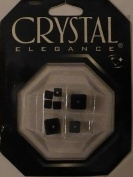 8 pc - Crystal 18 Facet Cube Mix - Black AB - Crystal Elegance - 32836-23