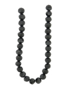Tennessee Crafts 3003 Glass Beads, Round, Black, 8mm
