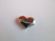 Floating Love Heart Charm for Glass Lockets