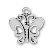 Pewter Open Butterfly Charm (lead free) - 1.9cm - Style #38214