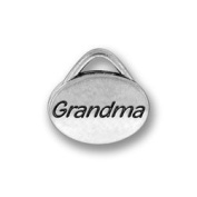 Pewter Message Grandma Charm (lead free) - 1.3cm