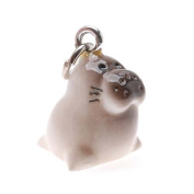 Hand Painted 3-D Baby Seal Charm 18mm Lightweight
